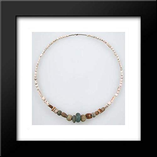 - Frankish Culture - 15x15 Framed Museum Art Print- Beaded Necklace