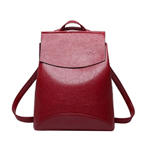 Cuir Solide En Lady Rétro Bag Sangle Réglable Rouge Sac Épaule Messenger Filles À Sackpack Republe Pu Femmes Dos Jeunes Rucksack EqqvnC4