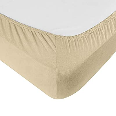 .com - IDEAhome Jersey Knit Fitted Cot Sheet, Soft Material, Suitable for Bunk Beds, Camping, RVs, Folding Beds, Boys & Girls, 75