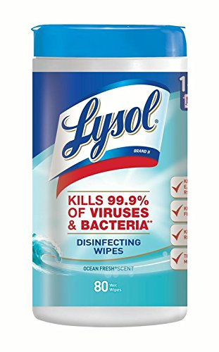 4in 1 Disinfecting Wipes - Lysol Disinfecting Wipes, Ocean Fresh, 80 Count