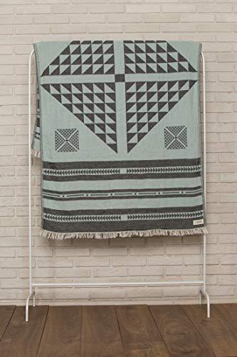 Bersuse 100% Algodón - Aruba Toalla Turca - Certificado Oeko-Tex - Fouta Peshtemal para Baño en la Playa - Pestemal de Diseño Bohemio Mano - 100X180 cm, ...