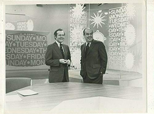 Bob schieffer, Charles Kuralt -'CBS News- Morning '1979 CBS TV press photo MBX97