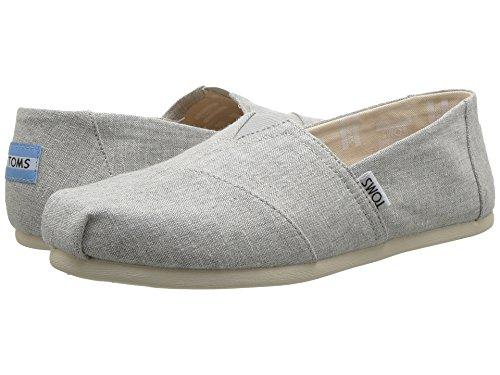TOMS Womens Classics Drizzle Grey Slub Chambray Loafer, Size 9