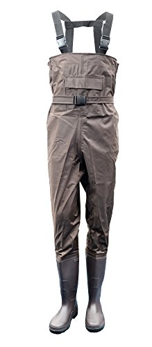 (Azuki Fly Fishing Waders with Wading Boots,Fishing Gear,Chest Waders for Fishing (Men Size 8.5 / Women Size 10.5))