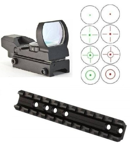 Ultimate Arms Gear Marlin Rifle Deluxe Scope Mount + CQB Reticle Dual Red / Green Open Reflex Sight with Weaver-Picatinny Rail Mount (Deluxe Red Dot Sights)
