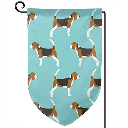 topsaleA Beagles Pet Dog Dogs Beagle Pets Blue Classic Dog Fabric_297 Sweet Home Garden Flag Vertical Double Sided Decorative Spring Summer Yard Outdoor Decorative 12 x 18 Inch ()