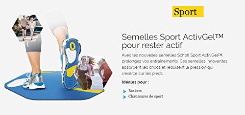 8b4ac9315b90db Scholl Semelles ActivGel Sport Femme taille de 35,5 au 40,5: Amazon.fr:  HygiÚne et Soins du corps
