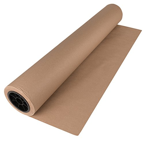 Brown Kraft Paper Roll 30 x 2400 Inches (200 Feet Long) Single Roll, 100% Recycled Materials, Wrapping Paper, DIY Gift Wrapping, Packing, Postal, Shipping by Woodpeckers