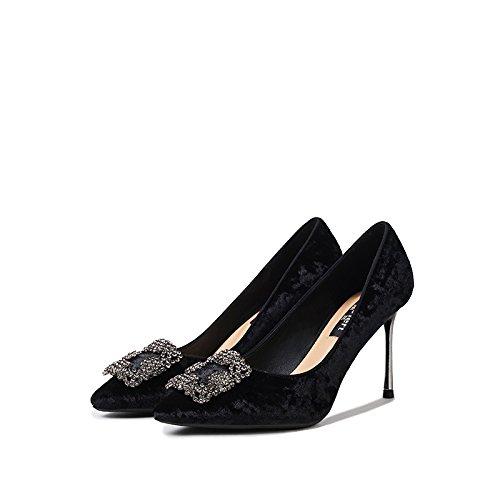 Femmes Sexy Talons Hauts Talons Aiguilles Partie De La Mode A Escarpins Sandales Chaussures De Mariage De Danse Discothèque Fête Noir