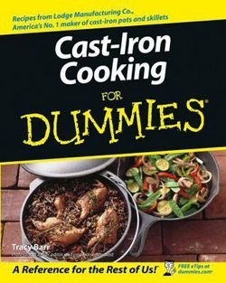 Cast-Iron Cooking for Dummies (Paperback)--by Tracy L. Barr [2003 Edition]