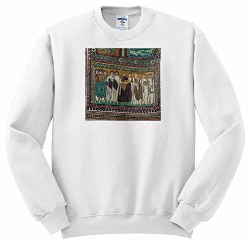 3dRose Danita Delimont - Italy - Italy, Ravenna, Basilica of San Vitale Mosaic - Sweatshirts - Adult Sweatshirt XL - Mosaic Ravenna