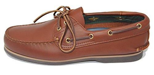 Zapato EN de de Marrón Verano John Becerro Piel Coleman Náutico Color fC7wqg6q