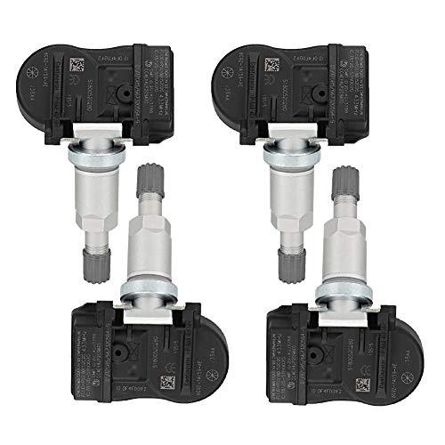 Qiilu Tire Pressure Monitor, 4pcs Tire Pressure Monitoring Sensors 8G921A159AE: