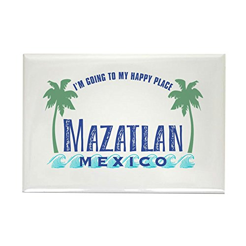 (CafePress Mazatlan Happy Place - Rectangle Magnet, 2
