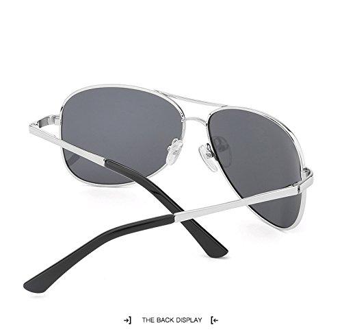 Sol para de Gafas Sol Sol Hombre Moda de Sol Sol para de Color Green de Sol de Vintage Polaroid Mujer de Gafas Gafas UV400 Gafas JCH Gray Unisex Gran Adultos Gafas gqwxtZg5d