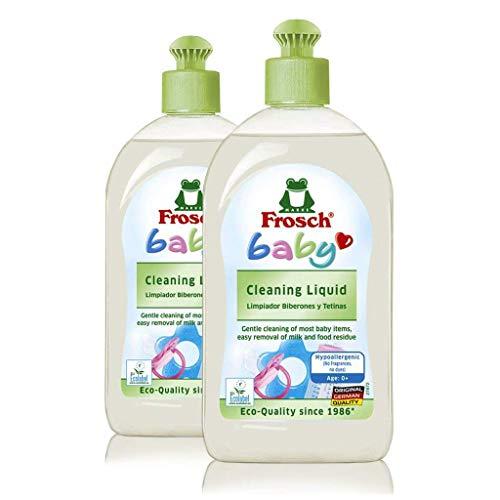 Frosch Baby Natural Liquid Dish Soap, Vegan Hand Dishwashing Detergent, Sensitive, 16.9 oz (Pack of -