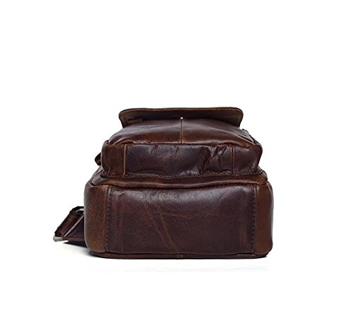 Herren Casual Umhängetasche, Leder Cross-Body Sling Tasche, Brusttasche, Höhe 25 × Länge 17 × Dicke 7 Cm, , 001 001