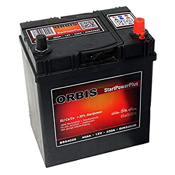 Orbis 12v 40ah 54026 Startpower Kfz Batterie Amazon De Elektronik
