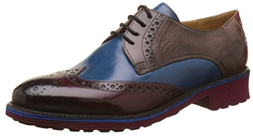 Multicolore Amelie Hamilton Multicolore Rich Derbys Pop Melvin Red Stone Blue amp; 3 Femme Burgundy RapYYq