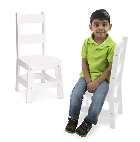Melissa & Doug Wooden Chair Pair - White Children's Furniture (Renewed)