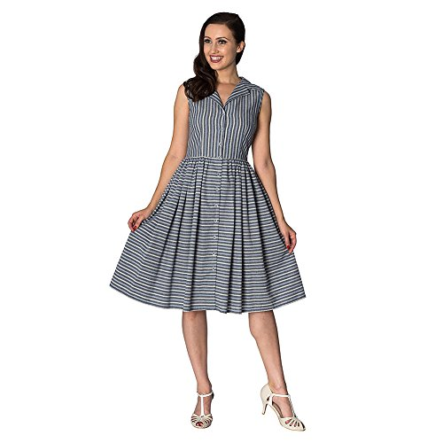 Blau Dress Streifen Brighton Kleid Days Damen Retro Pier Dancing 8HqU1Twx