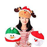 Gbell Kids Christmas Hat - Old Man,Snowman,Elk Caps for Kids Boys Girls Christmas Fun