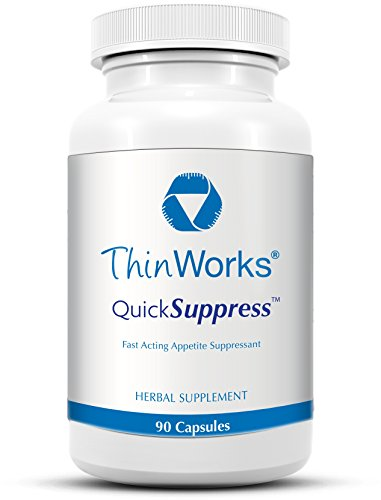 ThinWorks QuickSuppress Herbal Appetite Suppressant Weight Loss Supplement with Bitter Orange and Green Tea Leaf Extracts (90 Capsules)