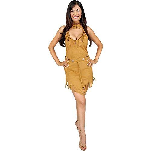 Tan Pocahontas Native American Indian Adult Costume (Pocahontas Adult)