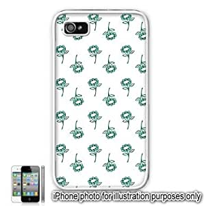 Green Pretty Floral Flowers Pattern iPhone 4 4S Case Cover Skin White