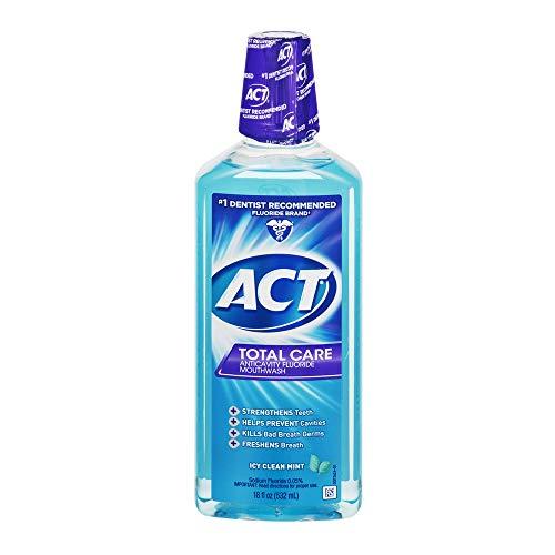 Act Tc Cln Mnt Mthwash Size 18z Act Total Care Icy Clean Mint Mouthwash