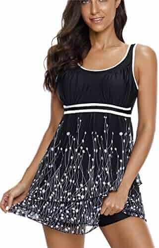 16e2570b94 Urban Virgin Women's Plus Size Swimwear Two Piece Tankini Bathing Suits  Swimsuits for Women