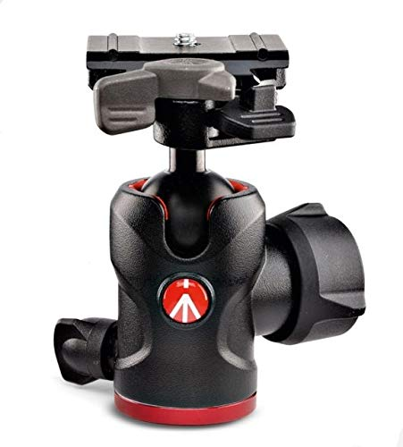 Manfrotto 494 Aluminum Center Ball Head with 200PL-PRO Quick Release Plate, 3.9'' Height, 17.6 lbs Capacity
