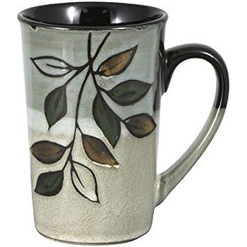 Pfaltzgraff Painted Poppies Latte Mug