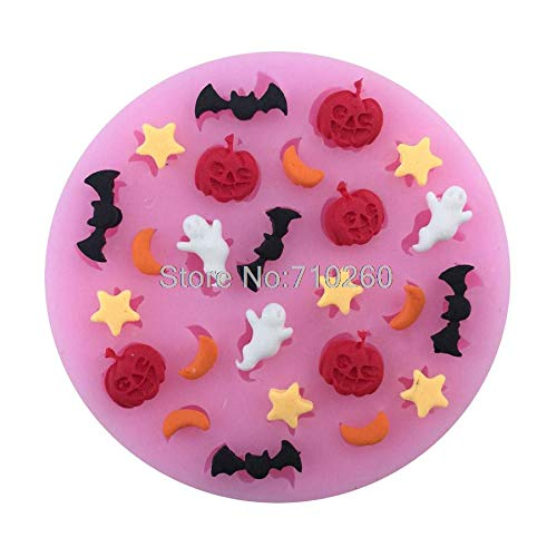 1 piece M111 Halloween Pumpkin Shaped Silicone Mold Cake Decoration Fondant Cake 3D Mold Food Grade -