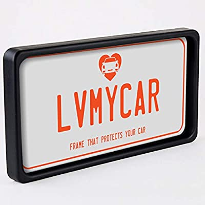LVMYCAR BUMPGUARD - Protective License Plate Frame & Bumper Guard, Slim Yet Tough, Flexible Polyurethane Car Shock Protector – Universal Fit – Protects Car from Parking Related Scratches and Dents: Automotive