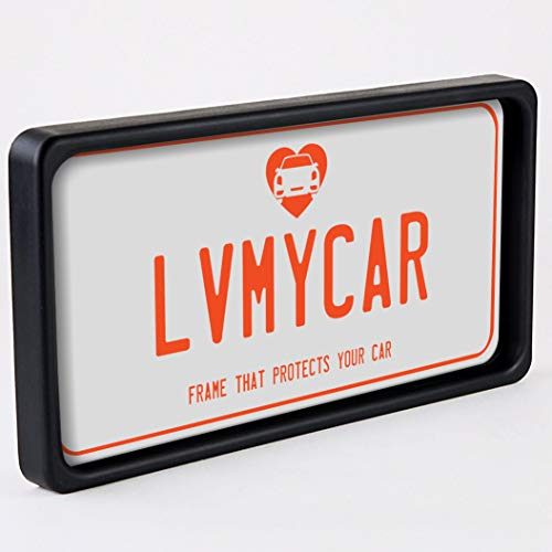 (LVMYCAR BUMPGUARD - Protective License Plate Frame & Bumper Guard, Slim Yet Tough, Flexible Polyurethane Car Shock Protector - Universal Fit - Protects Car from Parking Related Scratches and Dents)