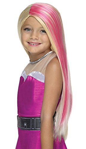 Girls Barbie Costumes (Rubie's Costume Barbie Princess Power Super Sparkle Child Wig)