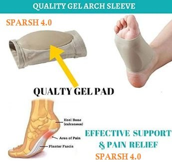 8c2293dc53 Plantar Fasciitis Therapy Wrap Heel Foot Pain Arch Support Ankle Brace  Insole Orthotic … (Beige Arch Sleeve and Black Heel Wrap)