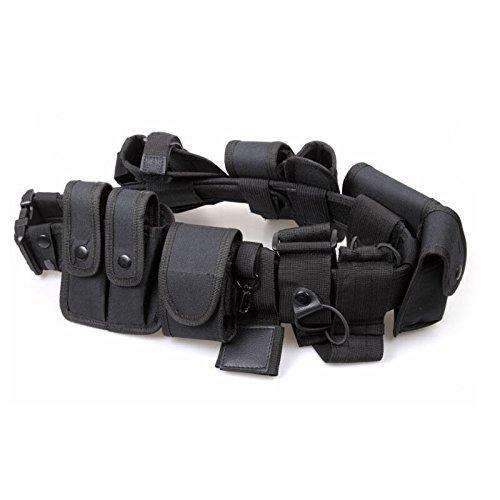 Police Security Guard Modular Enforcement Equipment Duty Belt Tactical 600 Nylon (Belt Tactical Duty Deluxe)