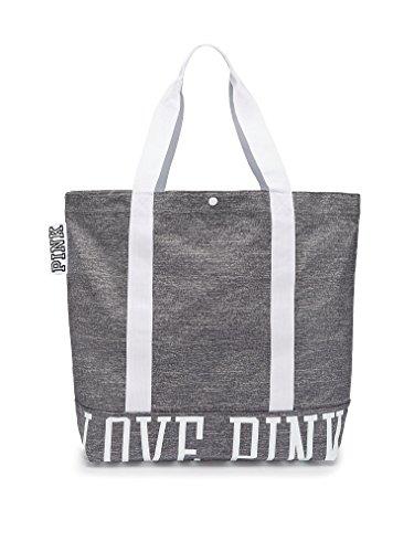 Victoria's Secret PINK Snap Closure Canvas Tote Bag