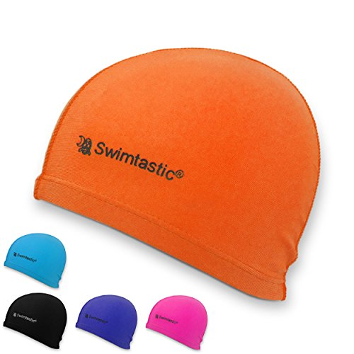 Swimtastic Lycra Swim Cap, Orange