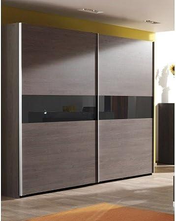 Armario adulto 250 cm 2 puertas correderas sila Coloris roble Bergerac: Amazon.es: Hogar