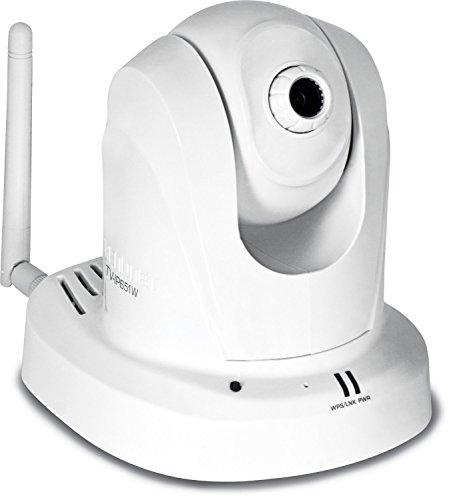 TRENDnet Wireless N Pan, Tilt, Zoom Network Surveillance Camera with 1-Way Audio, TV-IP651W, White (Certified Refurbished) (Pan Tilt Zoom)