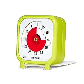 Original 3 inch Visual Timer, A 60 Minute Countdown Timer for Kids Classrooms, Meetings, Kitchen Timer, Adults Office and Homeschooling Tool with Silent Operation (Lime Green)