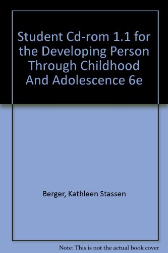 Student CD-Rom 1.1: for The Developing Person Through Childhood and Adolescence 6e