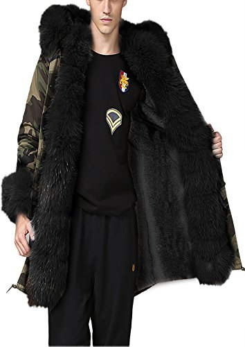 blackXxx Overcoat Lady Large Women Long Warm Parka Outweargrey Thicken Jacket Coat Fur Roiii Winter Hood IYb7gvmf6y
