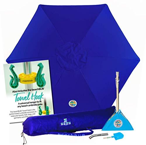 BEACHBUB All-in-One Beach Umbrella System. Includes 7 ½' (50+ UPF) Umbrella,...