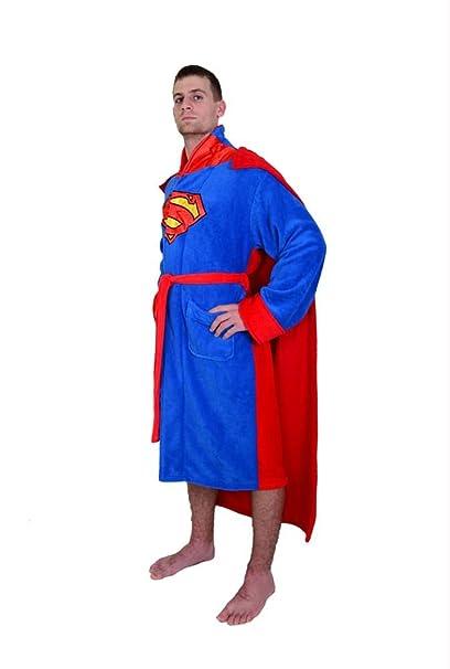 Amazon.com: DC Comics Superman Mens forro Polar albornoz ...