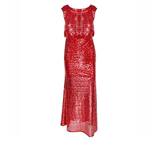 Dreamskull Abendkleid Abendmode Lang A Linie Rückenfrei Ballkleid Business  Party Kleid Pailletten Etuikleid Festlich Cocktailkleid Rot