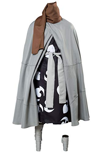 Sinastar Dororo Hyakkimaru Cosplay Costume Hyakkimaru Kimono Cloak Scarf Black